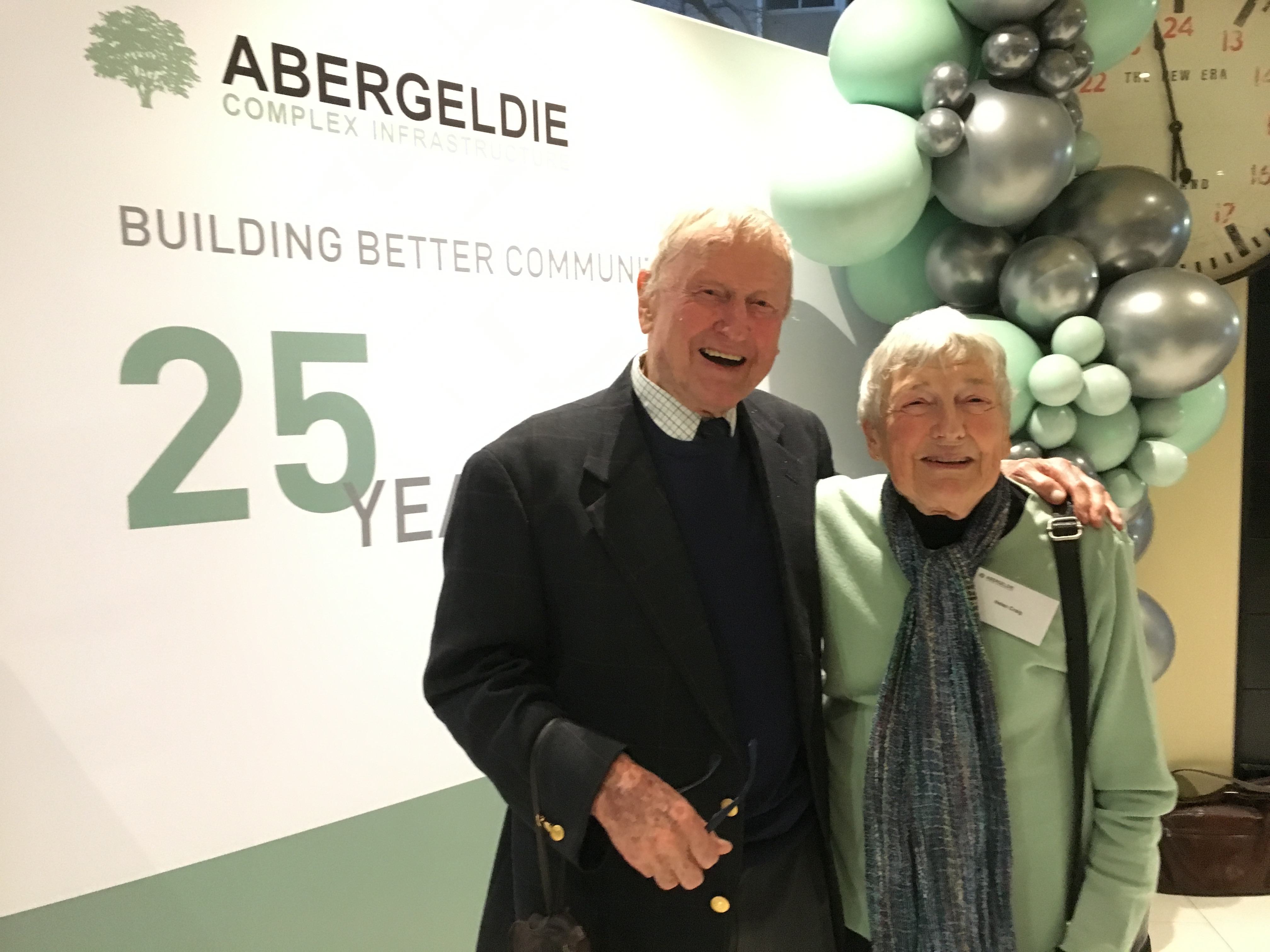 Robin's Mum and Dad attend the 25 anniversary celebration in Melbourne