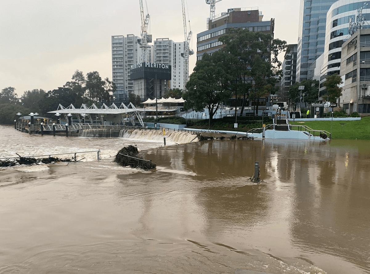 The Parramatta River during a recent flood event