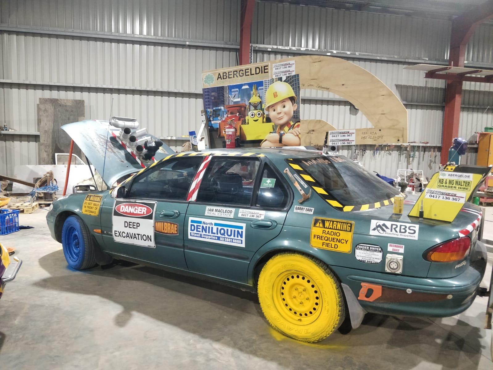 The Abergeldie Rally car ready
